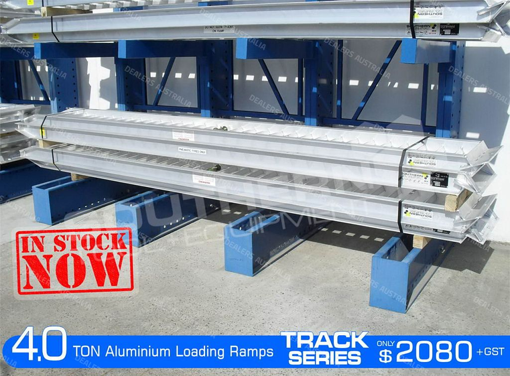 aluminium loading ramps 4 0 ton 400mm wide track series qld for sale truck dealers australia. Black Bedroom Furniture Sets. Home Design Ideas