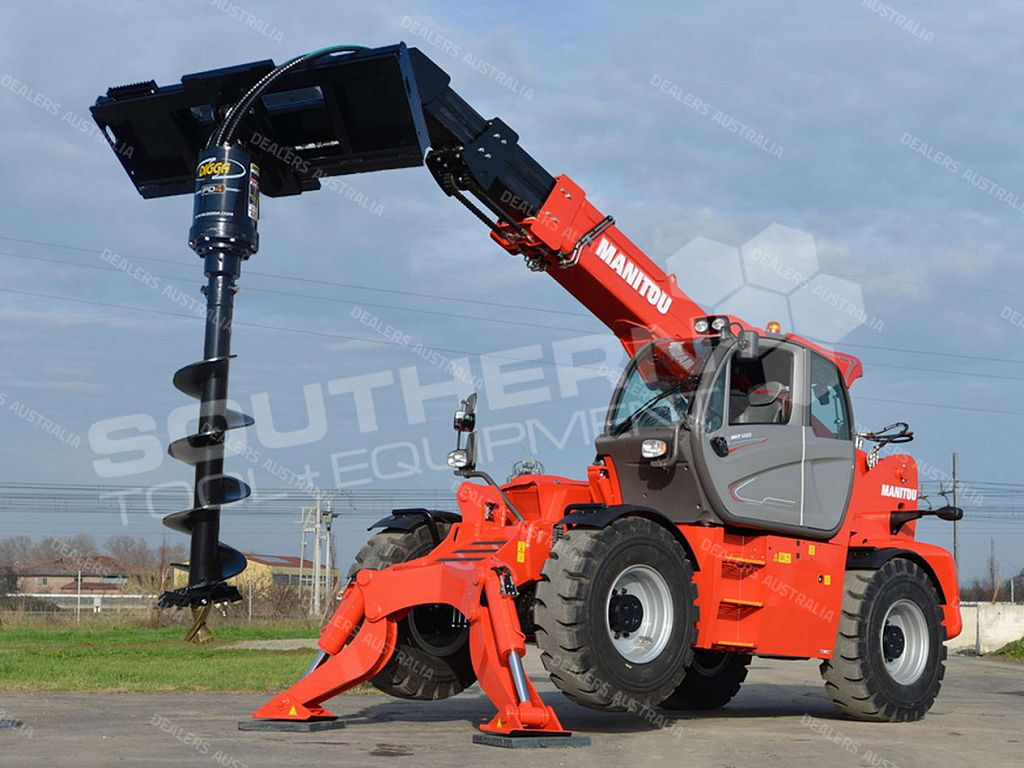 Digga pd4 telehandler auger drive unit qld for sale for Hydraulic auger motor for sale
